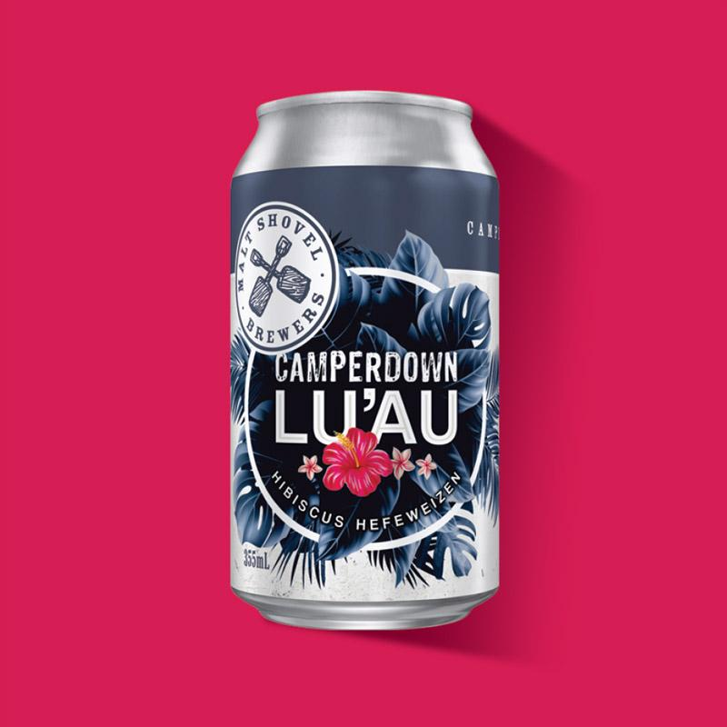 Energi Packaging Design Agency Specialists Malt Shovel Brewery Brewers Camperdown Luau Hibiscus Hefeweizen Can Label Product Photography