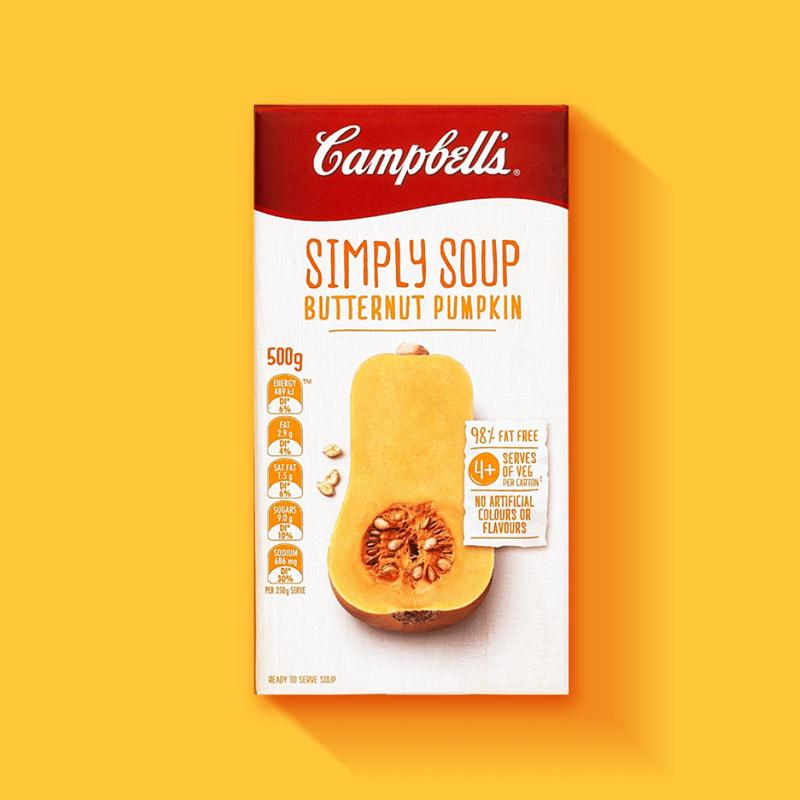 Energi Packaging Design Agency Specialists Campbells Simply Soup Butternut Pumpkin Tetra Pack Product Photography